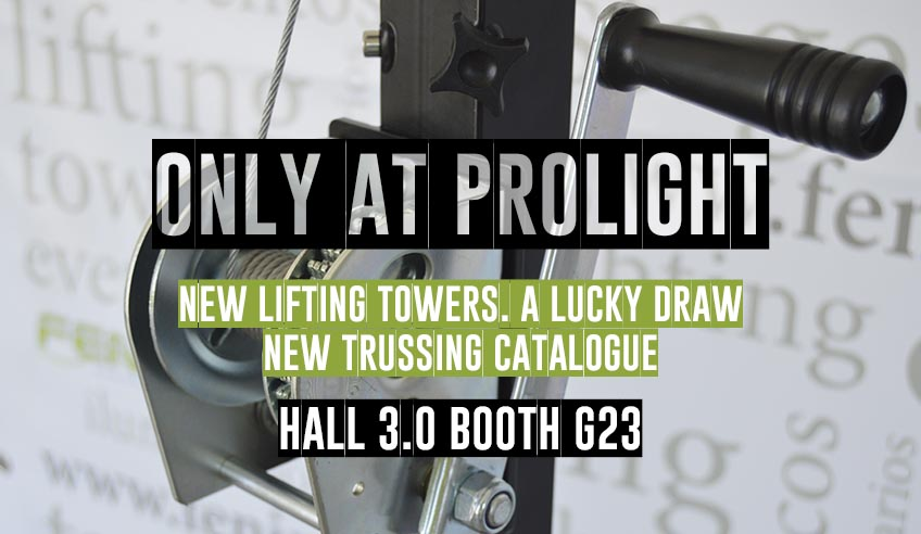 New lifting towers, new trusses' catalogue and a lucky draw, only at Prolight+Sound Frankfurt!