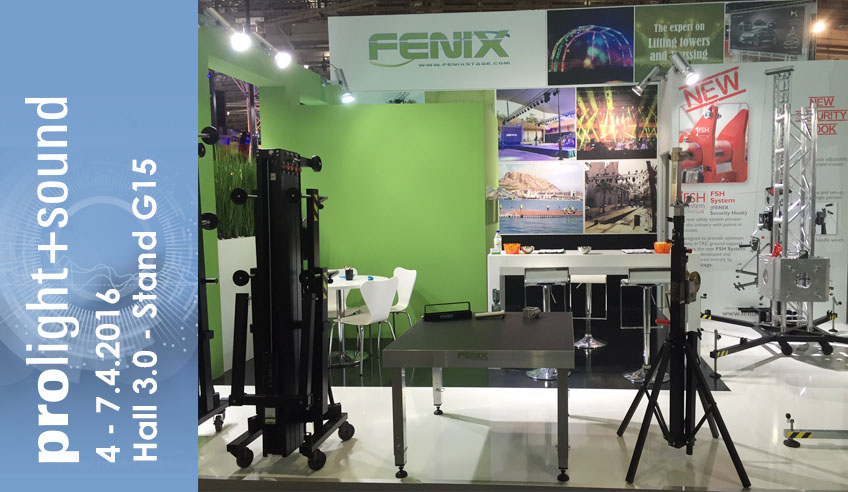FENIX Stage returns to Frankfurt with new stage platforms, new accessories for lifting towers and truss and… new booth!