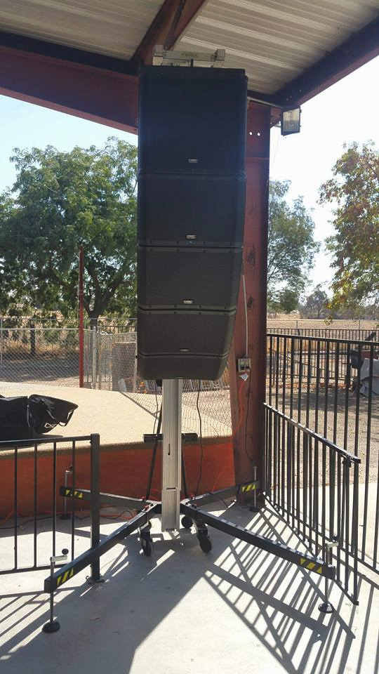 AT-06 with line array @ California (USA)
