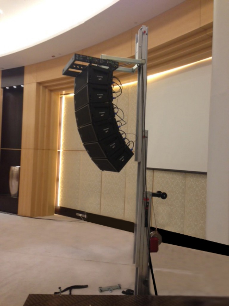 AT-06 with line array for wedding @ Doha (Qatar)