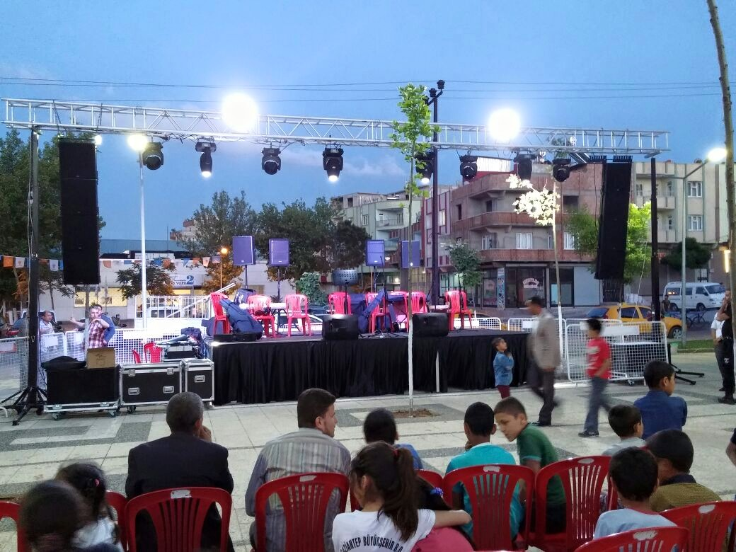 Stage with lifting towers and line array @ (Turkey)