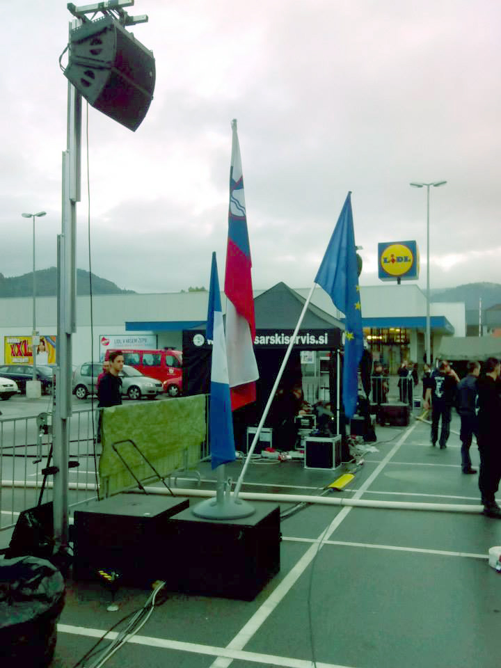 Outdoor event with lifting tower @ Ljubljana (Slovenia)