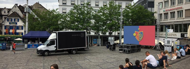 Large LED screen for Tele Basel @ Barfüsserplatz, Basel (Switzerland)
