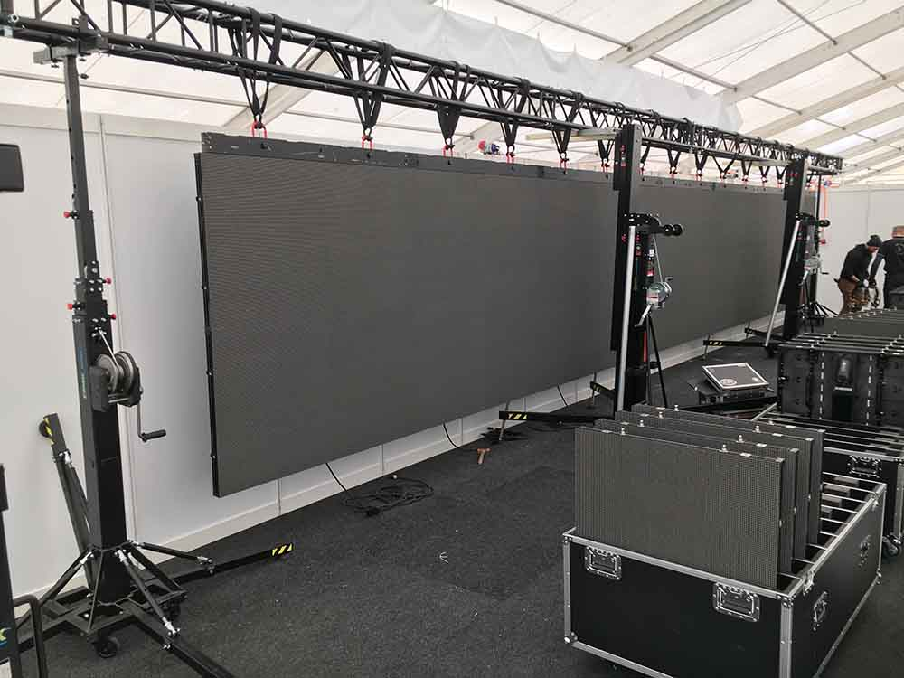 LED screen for a local event @ Wyna Expo, Reinach (Switzerland)