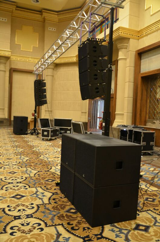 Sound and lighting for indoor wedding @ Istanbul (Turkey)