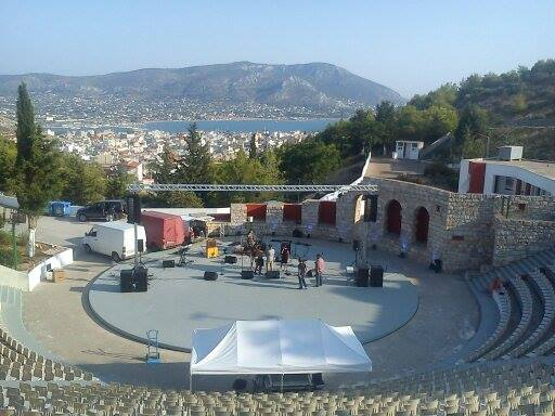 AT-06 towers with line-array and truss @ Arta (Greece)