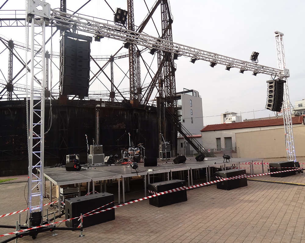 Structural towers for stage @ Attica (Greece)